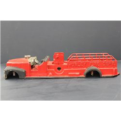 METAL HUBLEY FIRE TRUCK - NEEDS WHEELS