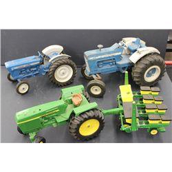 2 FORD & 1 JOHN DEERE FARM TRACTORS