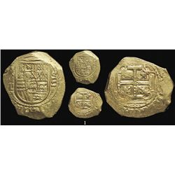 """Mexico City, Mexico, cob 8 escudos, Charles II, assayer L, """"jeweled"""" cross (1690s), from the 1715 Fl"""