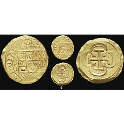 Mexico City, Mexico, cob 8 escudos, 1714/GRAT, assayer J, rare, from the 1715 Fleet.