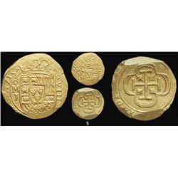Mexico City, Mexico, cob 8 escudos, 1715J, from the 1715 Fleet.