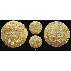 Lima, Peru, cob 8 escudos, 1699R, from the 1715 Fleet, scarce.
