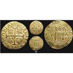 Lima, Peru, cob 8 escudos, 1708H, from the 1715 Fleet.