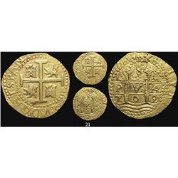 Lima, Peru, cob 8 escudos, 1709M, from the 1715 Fleet.