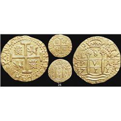 Lima, Peru, cob 8 escudos, 1711M, from the 1715 Fleet, encapsulated NGC MS 62.
