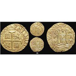 Lima, Peru, cob 8 escudos, 1711M, from the 1715 Fleet, encapsulated NGC MS 61.