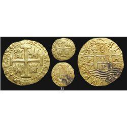 Lima, Peru, cob 8 escudos, 1712M, from the 1715 Fleet.
