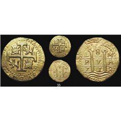 Lima, Peru, cob 8 escudos, 1713/2M, from the 1715 Fleet.