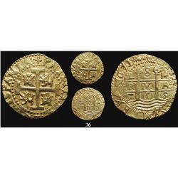 Lima, Peru, cob 8 escudos, 1715M, very rare.