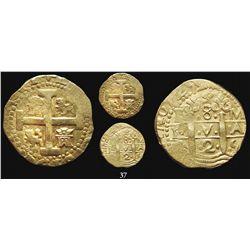 Lima, Peru, cob 8 escudos, 1725M, Louis I, scarce.