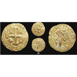 Lima, Peru, cob 8 escudos, 1731(N), from the 1733 Fleet, rare provenance.
