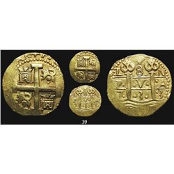 Lima, Peru, cob 8 escudos, 1733N, supposedly from the 1733 Fleet (rare provenance).