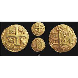 Lima, Peru, cob 8 escudos, 173(?)N, encapsulated NGC XF 45.
