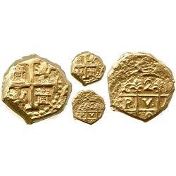 """Cuzco, Peru, cob 2 escudos, 169(8M), """"Bogota cut,"""" from the 1715 Fleet."""