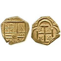 "Bogota, Colombia, cob 2 escudos, Philip IV, assayer not visible (A below mintmark NR to left), ex-""M"