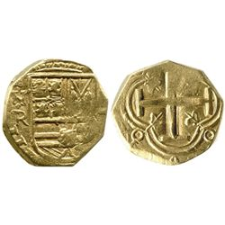 Bogota, Colombia, cob 2 escudos, Philip IV, assayer not visible (style of Ramos, 1650s).