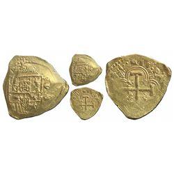 Seville, Spain, cob 8 escudos, (169)8/7(M), very rare, especially as from the 1715 Fleet.