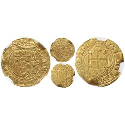 Seville, Spain, 1 escudo, Charles-Joanna, assayer * to left, mintmark S to right, encapsulated NGC M