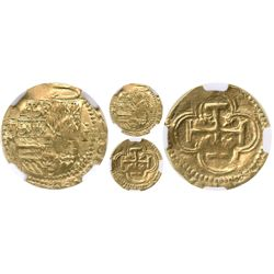 Toledo, Spain, cob 1 escudo, Philip II, assayer M below oT mintmark to left, denomination oI to righ