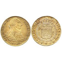 Potosi, Bolivia, bust 8 escudos, Charles III, 1783PR.