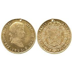 Potosi, Bolivia, bust 8 escudos, Ferdinand VII, 1823PJ.