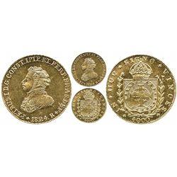 Brazil (Rio mint), 4000 reis, Pedro I, 1824-R.