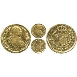 Santiago, Chile, bust 1 escudo, Charles IV, 1807FJ, rare.
