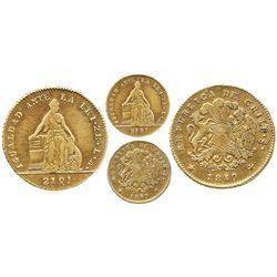 Santiago, Chile, 2 escudos, 1850LA.