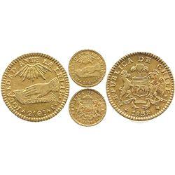 Santiago, Chile, 1 escudo, 1838IJ.