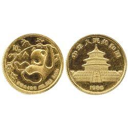 """China, 10 yuan (1/4-oz """"panda""""), 1985."""