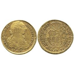 Popayan, Colombia, bust 4 escudos, Charles III, 1786SF.
