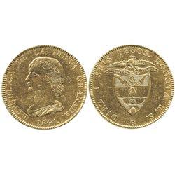 Bogota, Colombia, 16 pesos, 1841RS.