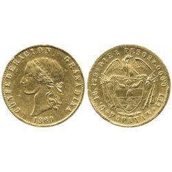 Popayan, Colombia, 10 pesos, 1860.