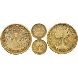 Costa Rica, 8 escudos, 1828F, rare.