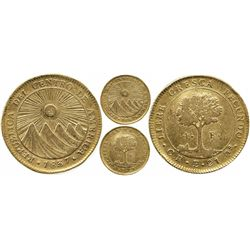 Costa Rica, 4 escudos, 1837E, rare.
