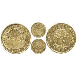 Costa Rica, 1 escudo, 1833E.