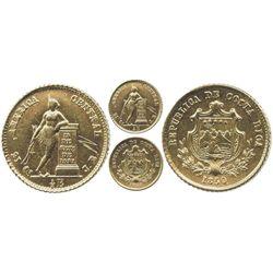 Costa Rica, 1/2 escudo, 1850JB.