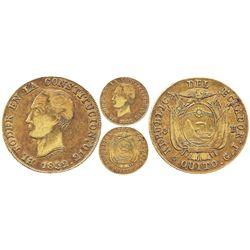 Quito, Ecuador, 8 escudos, 1852/0GJ.