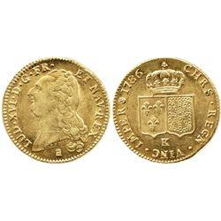 France (Bordeaux mint), double Louis d'or, Louis XVI, 1786-K.