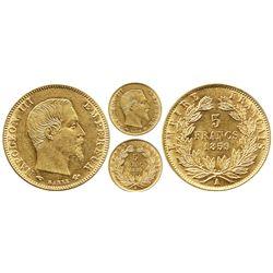 France (Paris mint), 5 francs, Napoleon III, 1859-A, head right.
