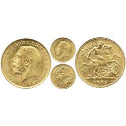 Pretoria, South Africa (under Great Britain), 1/2 sovereign, George V, 1925-SA.