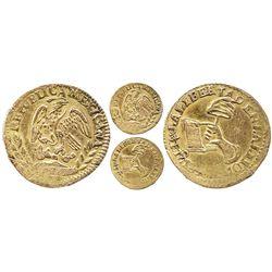 Contemporary counterfeit of a Mexico City, Mexico, 1/2 escudo, 1846?(??).