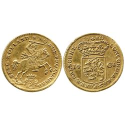 Holland, Netherlands, 14 gulden, 1750.