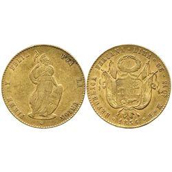 Lima, Peru, 8 escudos, 1854MB.