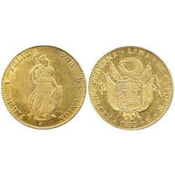 Lima, Peru, 8 escudos, 1855MB.