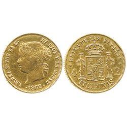 Philippines (under Spain), 4 pesos, 1862.