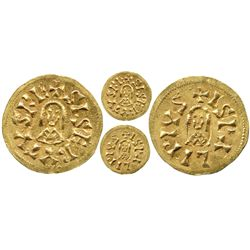 Visigoths (Spain), sisebuto tremisis, Ispalis mint, 612-621 AD.