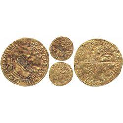 Seville, Spain (Castile and Leon), dobla de la banda, Juan II (1406-1474), mintmark S at top of cros