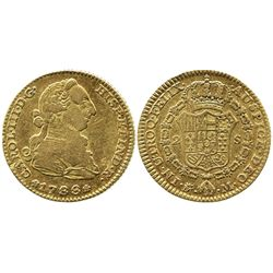 Madrid, Spain, bust 2 escudos, Charles III, 1788M.