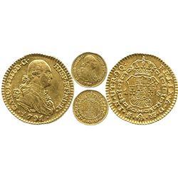 Madrid, Spain, bust 1 escudo, Charles IV, 1791MF.
